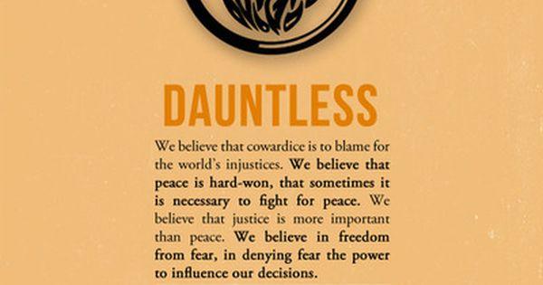 dauntless in a sentence