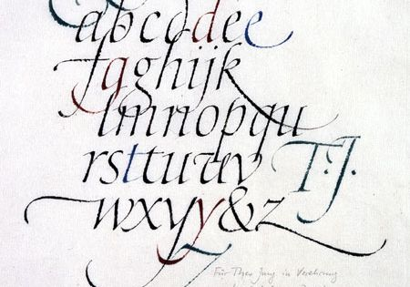 Italic Miniscule Calligraphy By Hermann Zapf Caligraphy