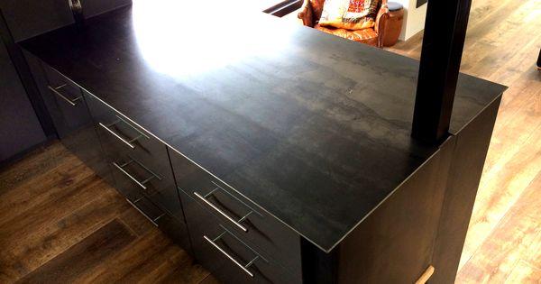 plan de travail en acier brut kitchen cuisine. Black Bedroom Furniture Sets. Home Design Ideas