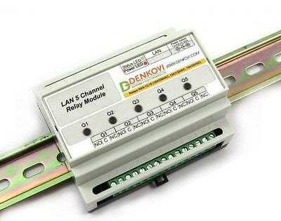 Ad Ebay Web Controlled 5 Relay Module Din Rail Box Snmp Http Xml In 2020 Relay Electronic Circuit Projects Ebay Web