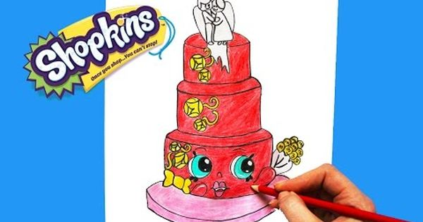 How To Draw Shopkins Season 3 Wendy Wedding Cake Step By Step Easy Toy Caboodle Youtube Shopkins Drawings Simple Toys Drawings