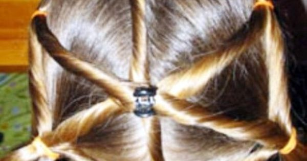 Kids hairstyle - spider web.. thi would be so cute for a witch ...