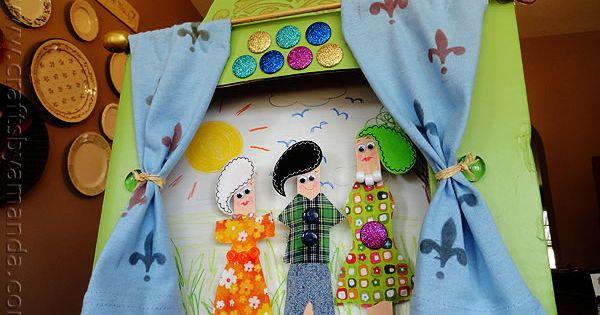 Ideas para hacer con palitos de madera 04 casa pinterest madera ideas para y guia de - Teatro marionetas ikea ...