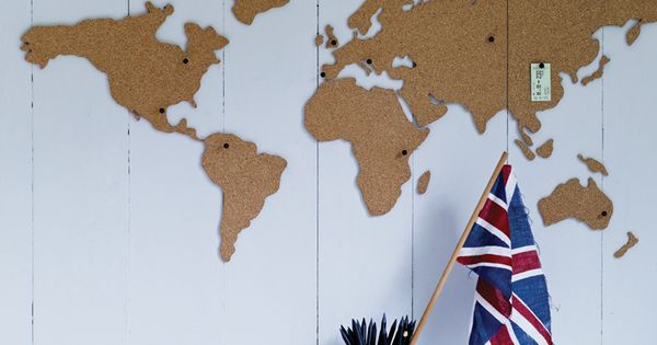 Corkboard World Map by Coz & Cox. Modern, vintage, or even eclectic,