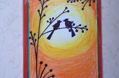 beautiful drawing for children in simple stepsoil pastel
