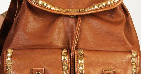 DIY: studded backpack
