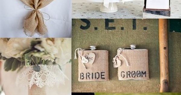 Not for a wedding obviously but I like the burlap theme