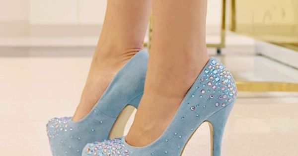 Soft blue pastel heels with jewels too cute!:3 | Life is the ...