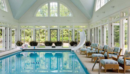 Home indoor pool with slide  Indoor Pool | Swim, Doors and French doors