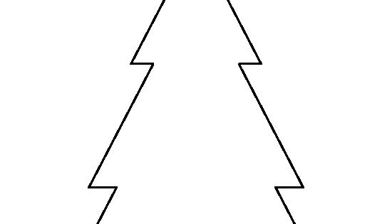 Triangle Christmas Tree Pattern. Use The Printable Outline