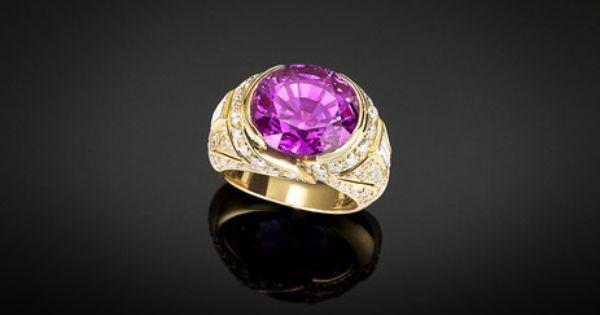 Bulgari Natural Pink Sapphire Ring 12 Carats