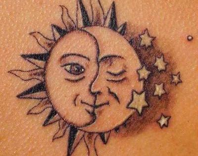 sun and moon tattoos | Hottest Sun and Moon Tattoos | Sun