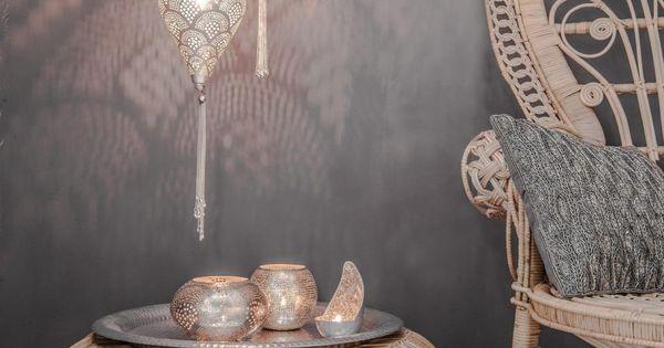 Hanglamp oosters boho filisky small zilver zenza house bathroom pinterest boho - Deco hangende toilet ...