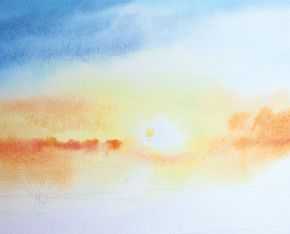 How To Paint A Sunrise And Sunset Watercolor Sunset Watercolor