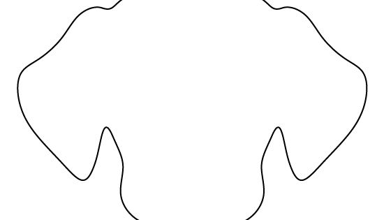 Dog face pattern. Use the printable outline for crafts ... - photo#11