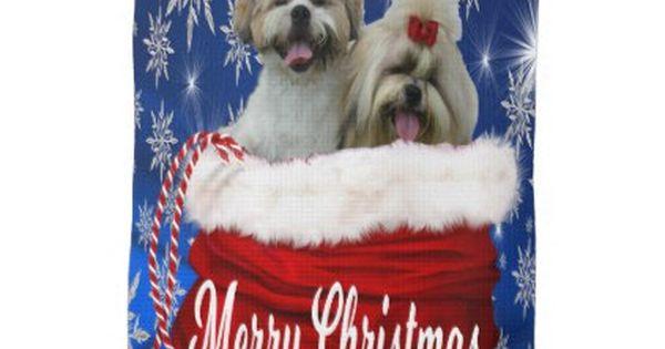 Shih Tzu Kitchen Towel Christmas Zazzle Com Shih Tzu Shih Tzu Puppy Puppy Blanket