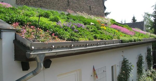 Mit Der Garage Werden Begriffe Wie Natur Pflanzen Oder Sauerstoff Eher Weniger Assoziiert Eher Denkt Man An Eine Dachbegrunung Dachkonstruktion Terrassendach