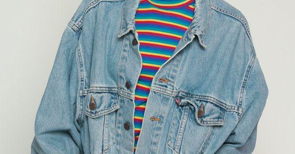 Denim veste levis veste en jean des ann es 80 denim jacket ovesized fan manteau levi bleu - Veste annee 80 ...