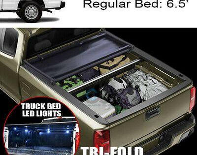 Sponsored Ebay Tri Fold Soft Tonneau Cover 16x Led Lights 99 16 F250 F350 Super Duty 6 5 Ft Bed In 2020 Tonneau Cover Truck Bed Led Lights