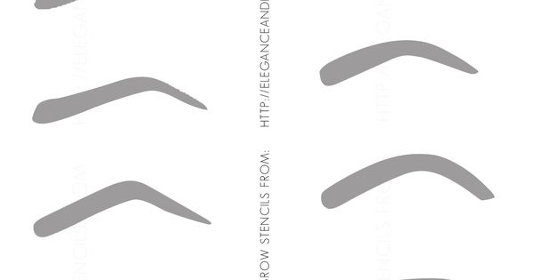 Free printable eyebrow 2038 3052 they wrk for Eyebrow templates printable