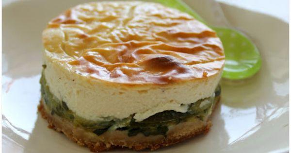 Cheesecake aux courgettes et au chèvre_ J'adore le cheesecake de ma maman,