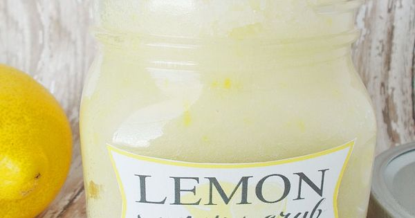 Easy Homemade Lemon Sugar Scrub. This would make a great handmade gift