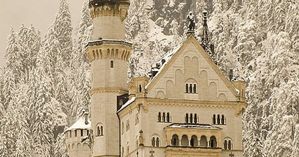 Neuschwanstein Castle in Bavaria, Germany. The inspiration for Sleeping Beauty Castle and