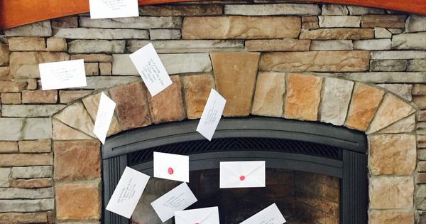 Diy Harry Potter Letters Flying Out Of The Chimney