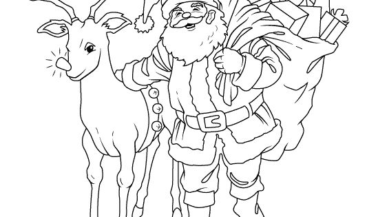 visit santas reindeer coloring pages - photo#4