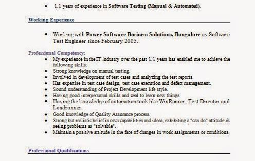 graphic designers resumes Sample Template Example of Excellent - software tester sample resume
