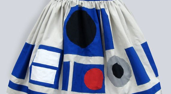 r2d2 star wars inspired full skirt, perfect start to the Halloween costume