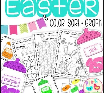 Jellybean Sort And Graph Games And Coloring Pages Graphing Color Activities Jelly Beans