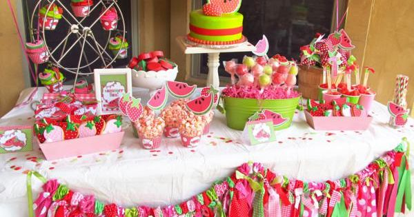 Watermelon and Strawberry summer birthday party! Check out the whole party!