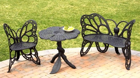 Wrought Iron Butterfly Chairs Butterfly Patio Furniture