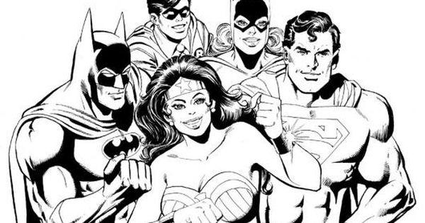 Dibujo De Los Super Heroes Para Pintar Y Colorear A Batman Robin