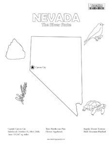 United States Coloring Pages Coloring Pages Nevada