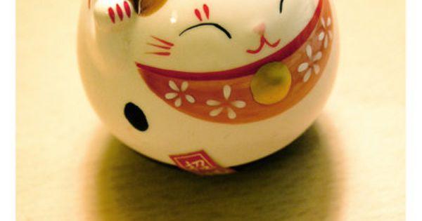 """The Japanese Maineki-Neko (""""lucky cat"""") is a good luck charm! The cat's"""