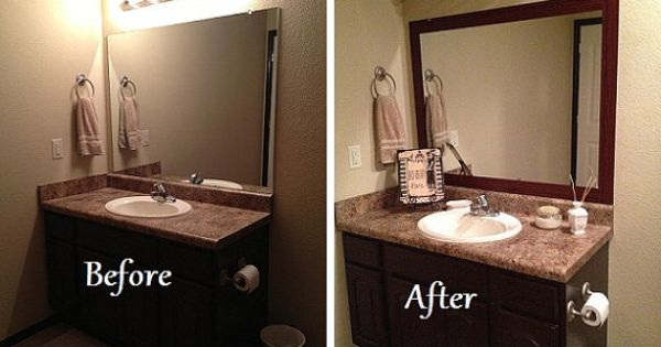 Stick On Frame Adhesive Frame For Bathroom Mirrors And Decal Sayings Vinyls Old Mirrors And