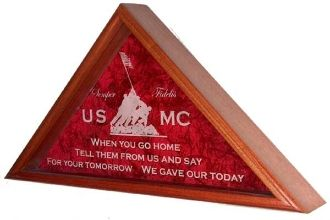 Personalized Flag Display Case American Flag Frame Flag Display