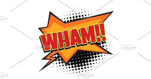 wham comic word by studiostoks on @creativemarket