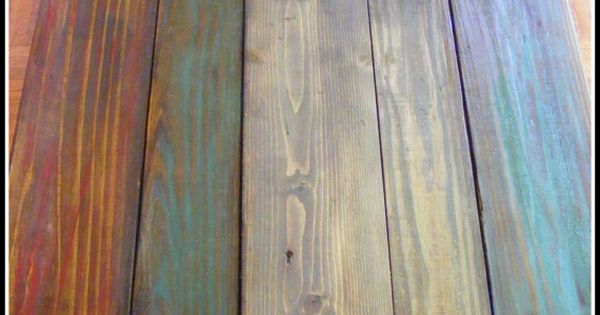 Custom Multi Color Reclaimed Pallet Wood Side Table
