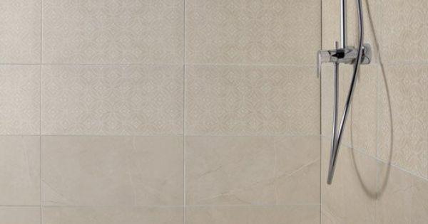Carrelage mural colys e artens en fa ence beige 30 x 60 cm tour2 douche pinterest for Peinture sur carrelage douche