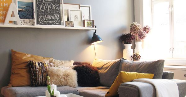 cozy living room wall color