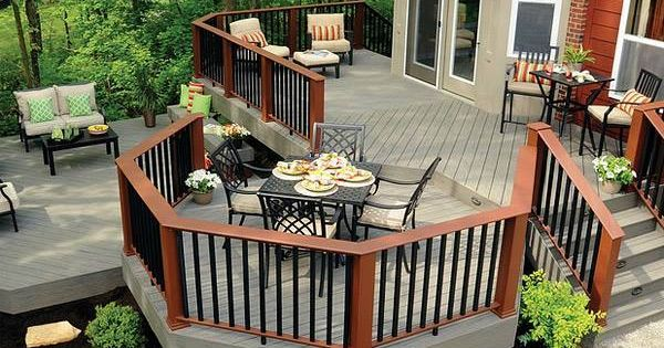 Love this deck lots of entertaining can be done here - Decoracion patios exteriores ...