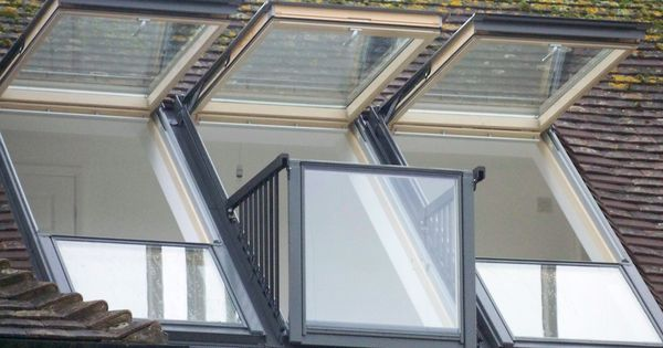 a real velux cabrio balcony installation it looks just. Black Bedroom Furniture Sets. Home Design Ideas