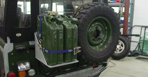 Swing Out Style Jerry Can Holder Custom Rear Bumper With Winch