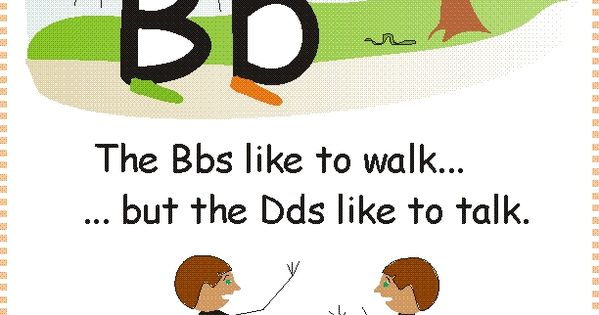 The Bbs like to walk... but the Dds like to talk. Visuals