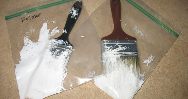 Alternative To Cleaning Paint Brushes Tutorial Rollers Various Size Freezer Bags I So