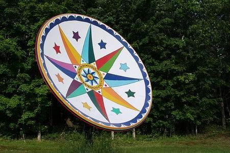Amazing Art On Satellite Dish Design Swan Satellite Dish Dishes Repurposed Satelite Dish