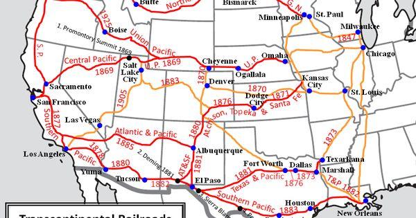 Transcontinental Railroads Via FamilySearchorg Rails - Us transcontinental railroads map